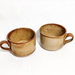 Vintage Dansk Designs JAPAN Stoneware Mug Set